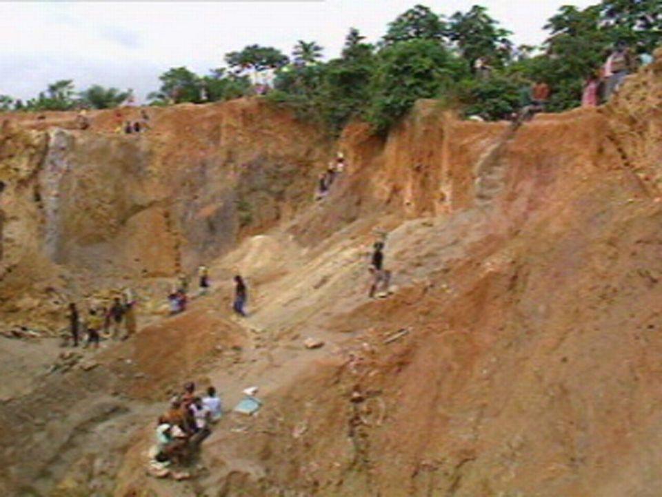 Mine d'or à ciel ouvert, Ghana