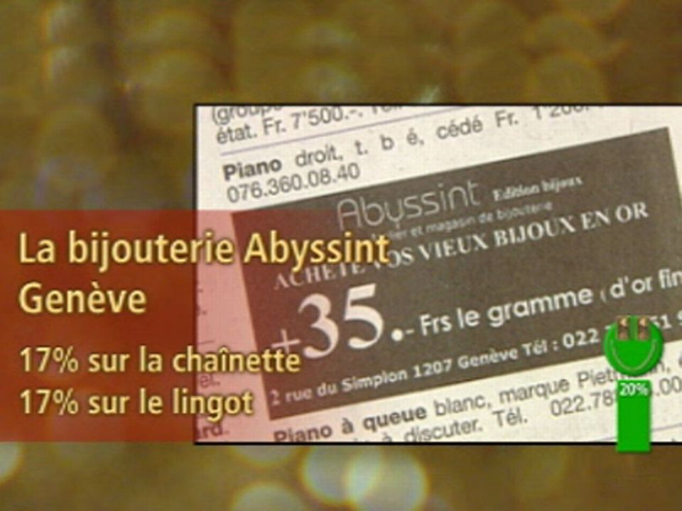 Vert: bijouterie Abyssint, Genève