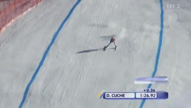 Ski alpin / Wengen: Didier Cuche et Carlo Janka ont terminé 2ème et 3ème de la descente + itw Didier Cuche