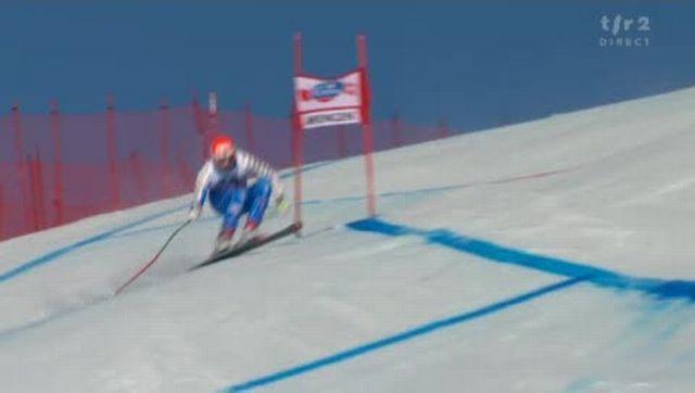 "Ski alpin / descente du Lauberhorn: Patrik Järbyn (SUE) chute à la ""Minschkante"""
