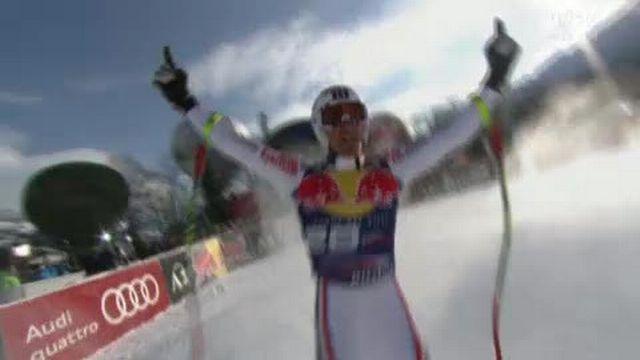 Ski alpin / descente de Kitzbühel: Le Français Adrien théaux crée la surprise en allant chercher la troisième place du podium avec son dossard 31