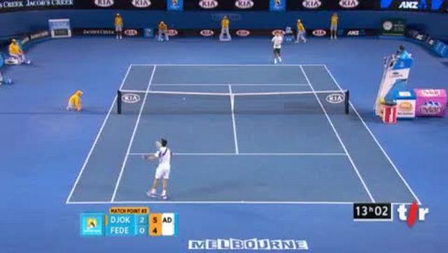 Tennis / Open d'Australie: Djokovic bat Federer et disputera la finale à Melbourne. Résumé du match