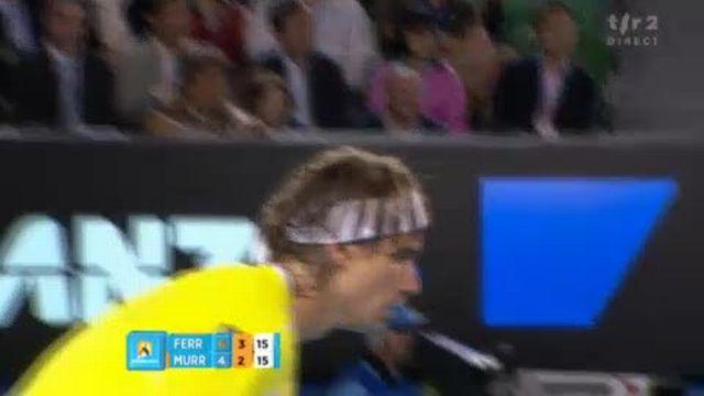 Tennis / Open d'Australie (2e demi-finale): Etonnant réflexde de Ferrer sur un smash de Murray