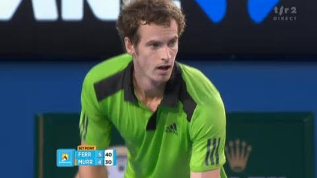 Tennis / Open d'Australie (2e demi-finale): Battu 6-4 au 1er set, Murray