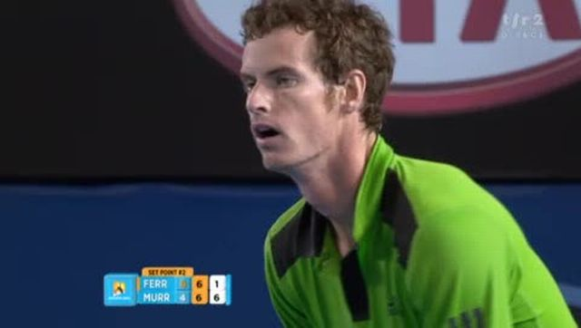 Tennis / Open d'Australie (2e demi-finale): Ferrer - Murray. La 2e manche se joue au tie-break