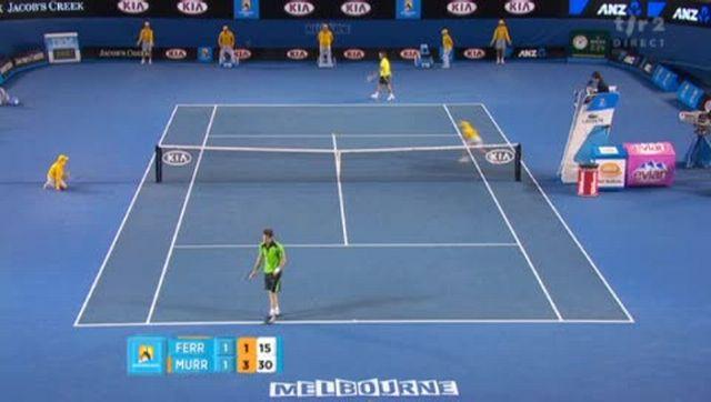Tennis / Open d'Australie (2e demi-finale): Murray parvient, pour la première fois du match, à confirmer un break. Tournant du match?