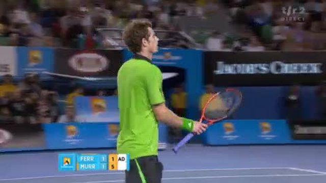 Tennis / Open d'Australie (2e demi-finale): Murray mène 2 sets à 1. L'Ecossais remporte la 3e manche 6-1