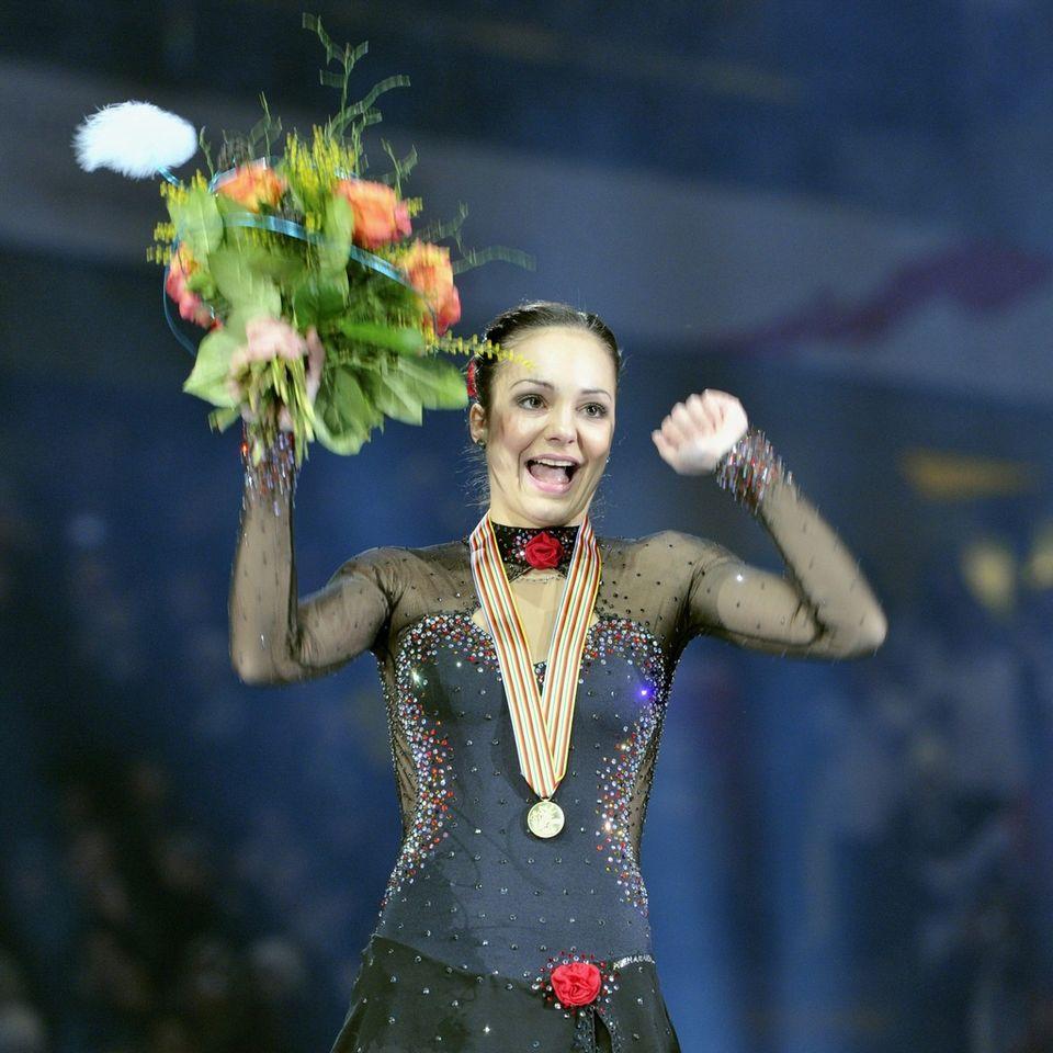 Sarah Meier a réussi samedi le programme de sa vie à Berne. De quoi finir sa carrière en beauté... [Peter Schneider - Keystone]