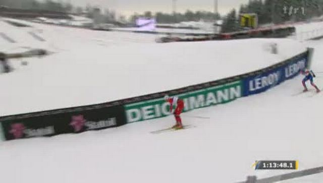 Ski Nordique / Mondiaux d'Oslo: le Norvégien, Petter Northug, décroche la première place du 30km poursuite. Le Suisse, Dario Cologna, a fini à la vingt-quatrième place