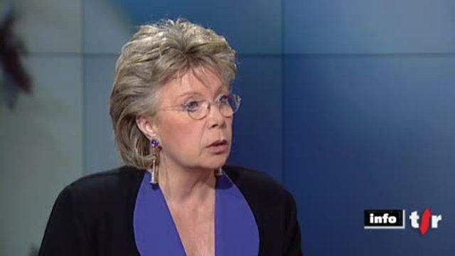 Immigration venant d'Afrique du Nord: entretien avec Viviane Reding, vice-présidente Commission européenne