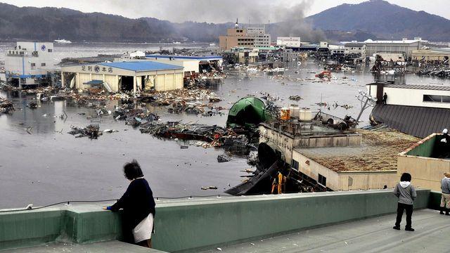 Conséquences du tsunami à Kesennuma. [Keiichi Nakane - Keystone]