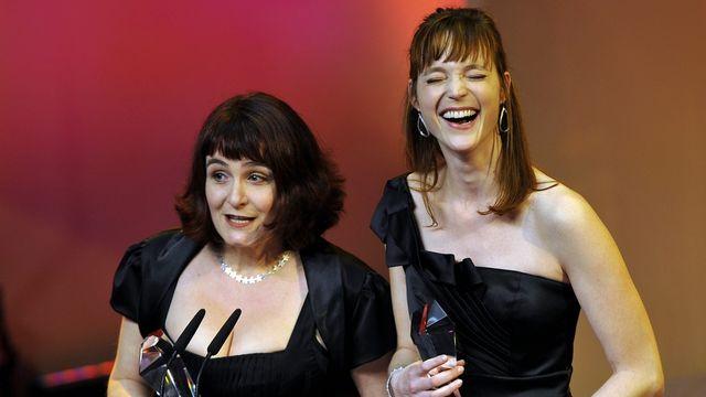 """""""La petite chambre"""" de Stéphanie Chuat (gauche) et Véronique Reymond (droite) a remporté le Quartz du meilleur film suisse. [Sigi Tischler - Keystone]"""