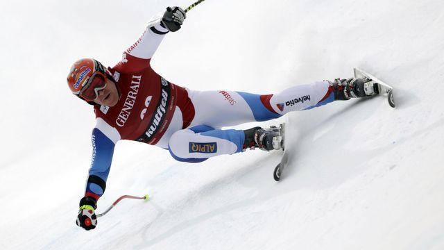 Cuche aura l'occasion à Lenzerheide de remporter un 4e globe de descente. [alessandro Trovati - Keystone]