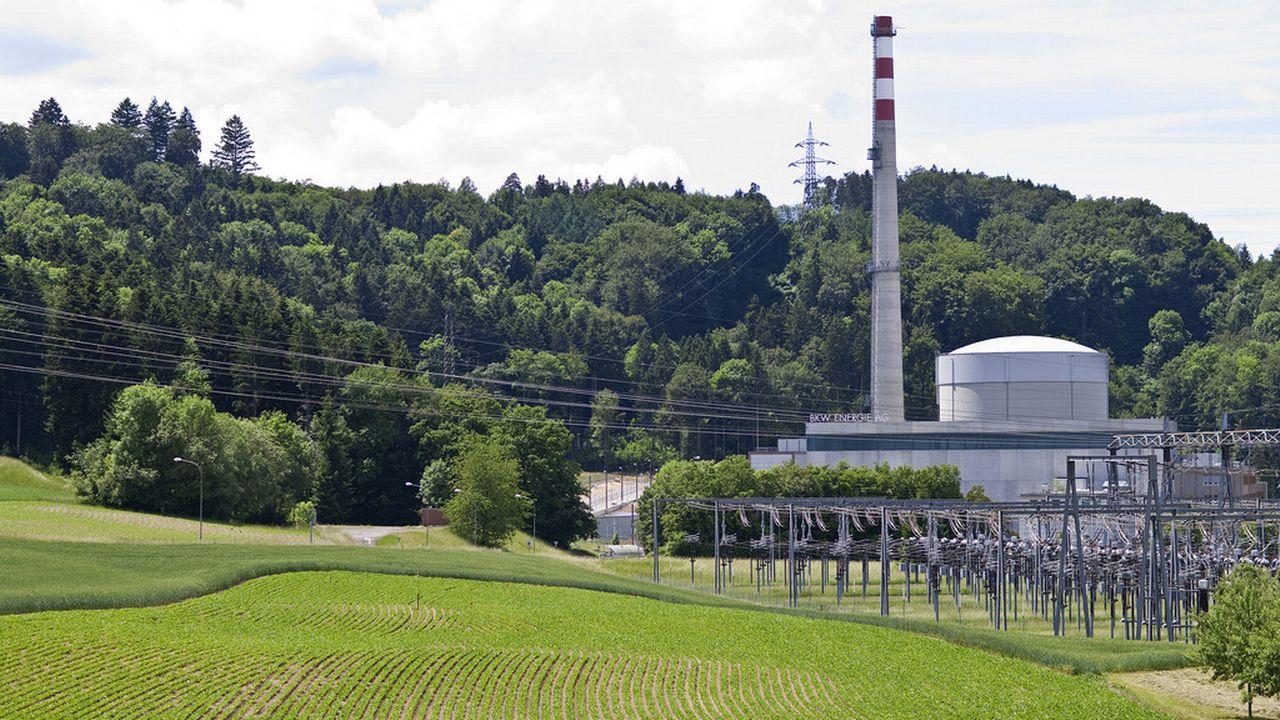 La centrale de Mühleberg (BE), du même type que celle de Fukushima (Japon) [Keystone]