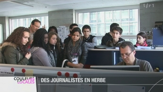 JU: à l'occasion de la semaine des médias, des élèves  ont découvert le milieu de la télévision