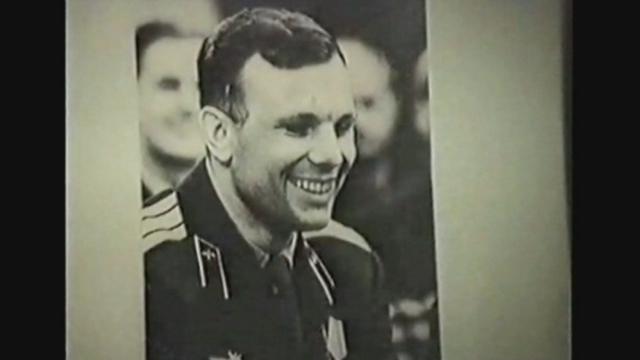Séquences choisies - images d'archives de Youri Gagarine