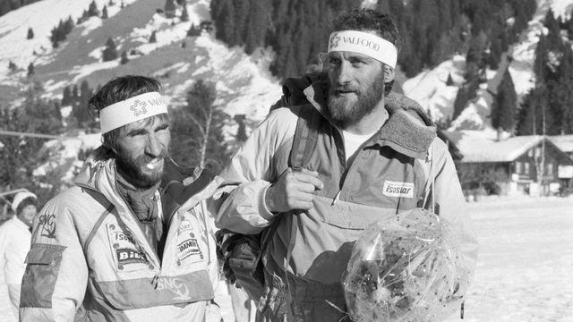 En 1989, Ehrard Loretan et André Georges avaient escaladé 13 faces Nord en 13 jours. [Keystone]