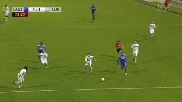 Football / 28e journée de Challenge League: Lausanne - Lugano (1-1) Lausanne revient au score grâce à Silvio!