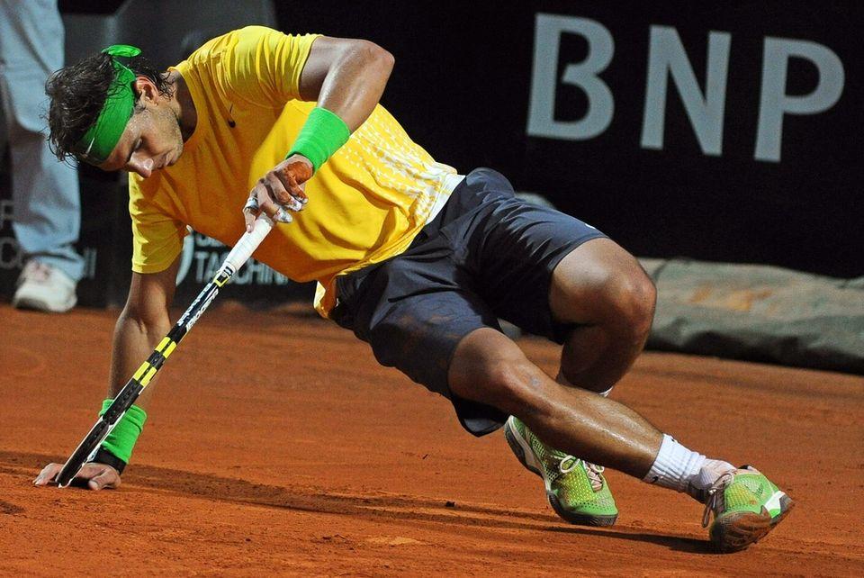 A terre en finale du Masters 1000 de Rome face à Djokovic, Nadal aura à coeur de se relever dans son jardin. [Claudio Onorati - Keystone]