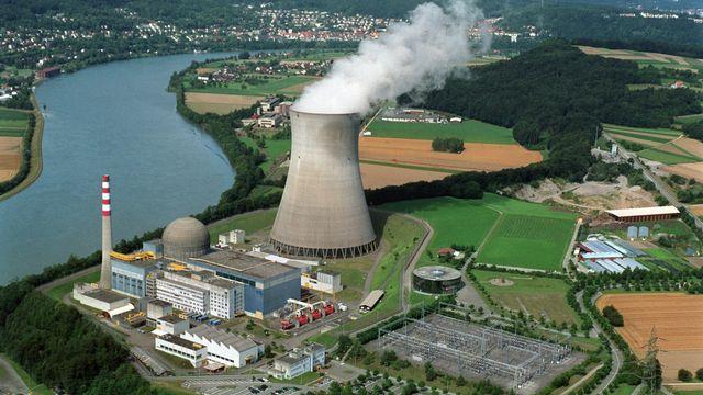 La centrale nucléaire de Leibstat, dan le canton d'Argovie. [Gaëtan Bally]
