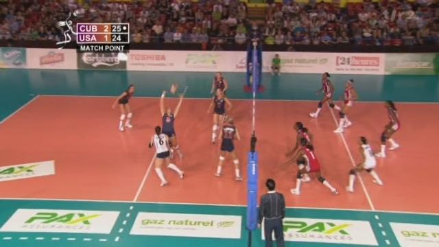 Volleyball/Masters de Montreux (demi-finale): Cuba bat les Etats-Unis