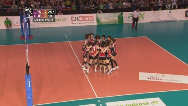 Volleyball/Masters de Montreux (finale): le Japon s'impose facilement face à Cuba