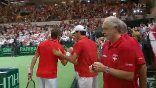 Tennis / Coupe Davis (Suisse-Portugal): Wawrinka remporte son match face à Frederico Gil Roger en 3 manches et 2h08 de jeu