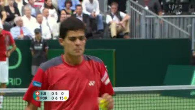 Tennis / Coupe Davis (Suisse-Portugal): Surprise (bis!), Federer concède un 2e break et machado enlève de haute lutte la 1re manche (5-7)