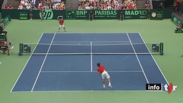 Tennis / Coupe Davis :  la Suisse mène deux à zéro face aux Portugal après les deux premiers simples