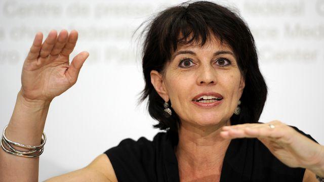 Doris Leuthard doit visiter le célèbre MIT en compagnie du directeur de l'EPFL Patrick Aebischer. [Fabrice Coffrini - AFP]