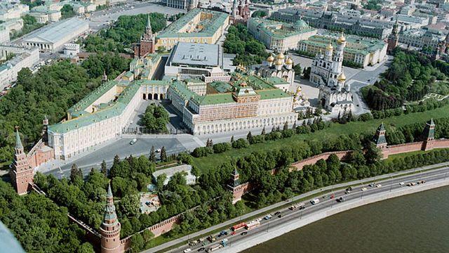 Vue aérienne du Kremlin. [Wikimédia.]