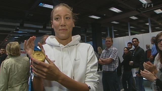 Natation: la genevoise Swann Oberson a décroché le titre de championne du monde de l'épreuve du 5km disputée en eau libre à Shanghai