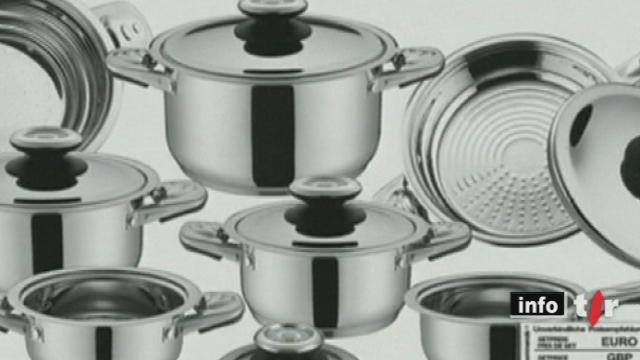 Une escroquerie portant sur la vente d'ustensiles de cuisine fait de nombreuses victimes en Suisse