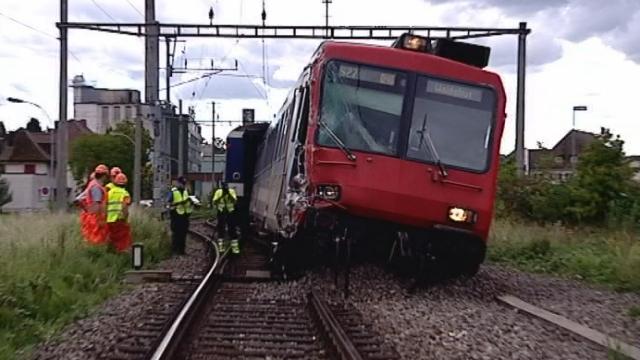 Une collision ferroviaire en Argovie fait huit blessés