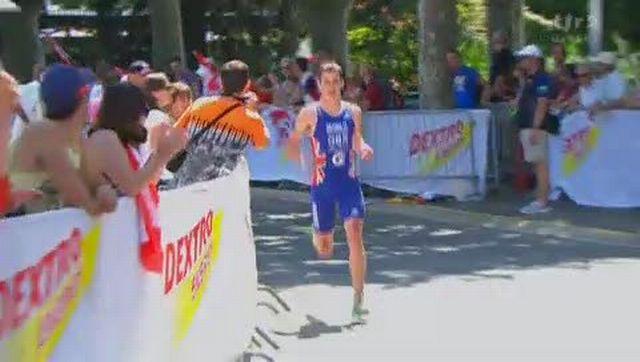 Triathlon / Mondiaux de Lausanne: arrivée du sprint messieurs