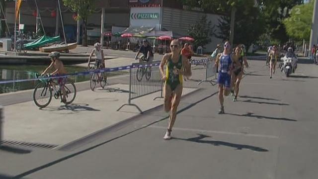 Triathlon / Mondiaux de Lausanne: arrivée du sprint dames