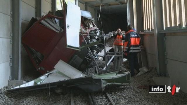 Un train a déraillé sur la ligne Montreux - Rochers-de-Naye, blessant deux ouvriers
