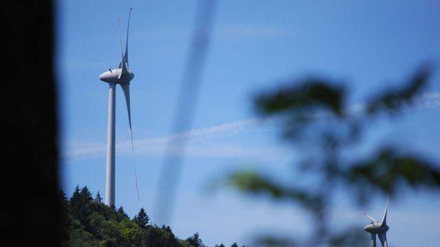 Jura, éolienne, énergie. [Gaël Klein - RTS]