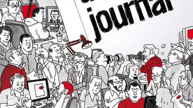 """La couverture de """"Journal d'un journal"""". [Delcourt]"""
