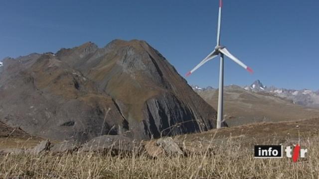 Energies renouvelables: la Conseillère fédérale Doris Leuthard a inauguré la plus haute éolienne d'Europe