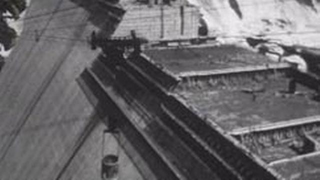 Le chantier du barrage de la Grande-Dixence