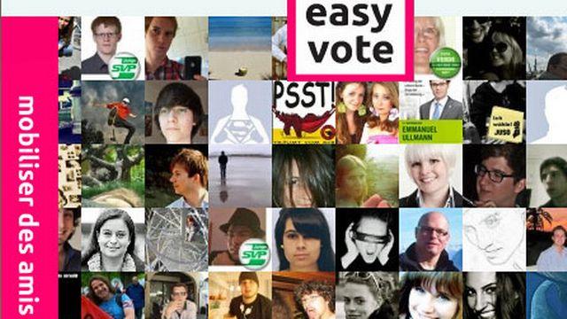 L'objectif est d'augmenter la participation des jeunes de 18 à 25 ans. [easyvote.ch]