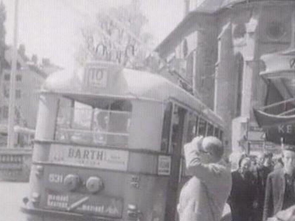 Les transports publics à Lausanne [TSR, 1964]