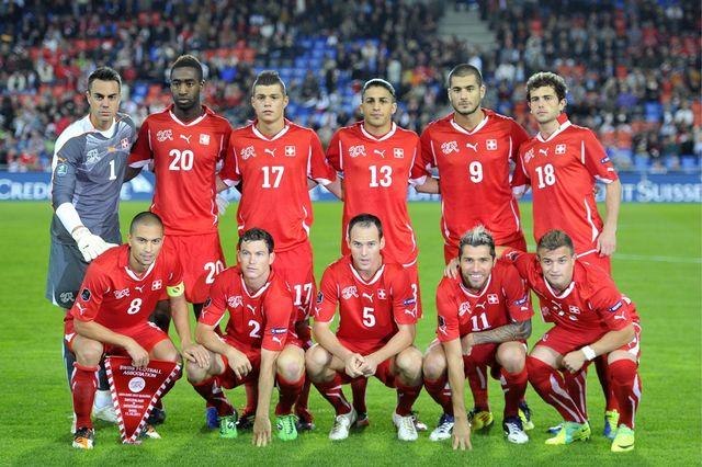 """La dernière image de l'album photo """"Euro 2012"""" des Suisses. [Georgios Kefalas - Keystone]"""