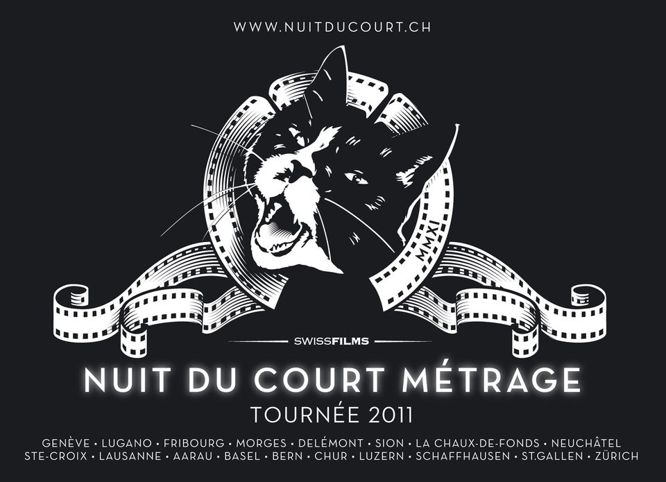 L'affiche officielle de la Nuit du Court métrage.