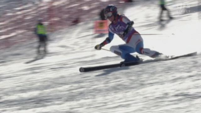 Ski alpin / ouverture de la saison Sölden (AUT): 2e manche géant dames. Dominik Gisin prend la tête
