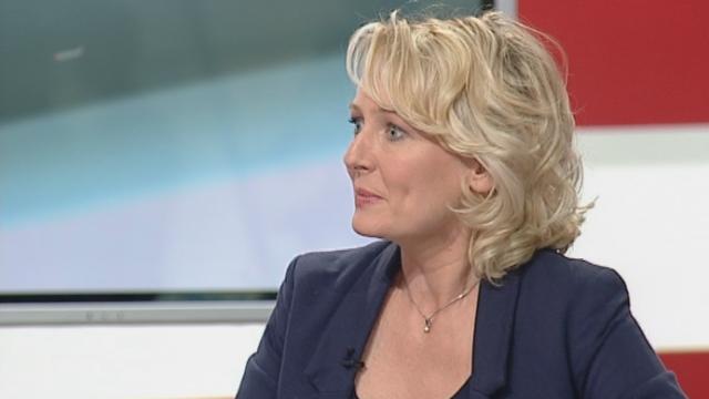 """Isabelle Moret (PLR/VD): """"On prédisait au PLR une perte de 7 voire 13 sièges, alors quand je lis 4, je me dis ouf"""""""