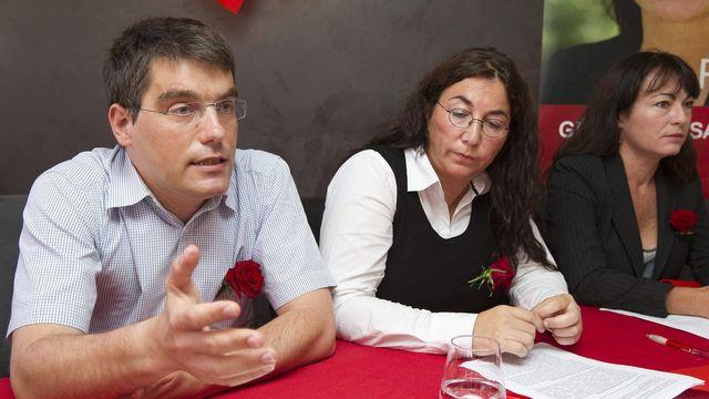 Roger Nordmann, Cesla Amarelle et Géraldine Savary (de gauche à droite): trois des six candidats PS vaudois élus au National [Keystone]