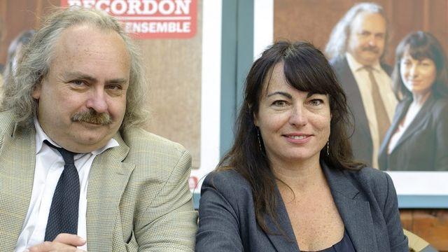 Les deux candidats de gauche, Luc Recordon (Verts) et Géraldine Savary (PS) sont avantagés pour le deuxième tour. [Laurent Gillieron - KEYSTONE]