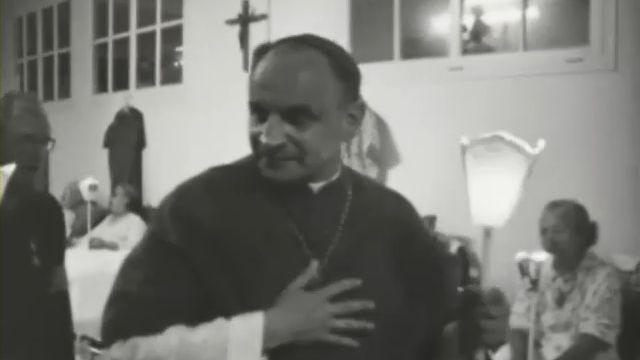 Mgr Pierre Mamie à Lourdes [TSR 1969]